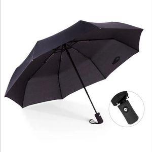 Parapluie pliable anti-vent Parapluie noir mat pour les jours pluvieux Ouverture et fermeture facile /à une main poign/ée ergonomique double auvent /à s/échage instantan/é Pour 2 personnes