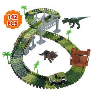 VOITURE ELECTRIQUE ENFANT Nuheby Circuit Dinosaure Voiture Flexible Circuit