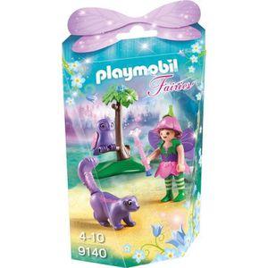 FIGURINE - PERSONNAGE PLAYMOBIL Fairies - Fée avec Hibou et Putois (Lot