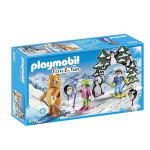 FIGURINE - PERSONNAGE PLAYMOBIL Family Fun - Moniteur de Ski (Lot de 2)