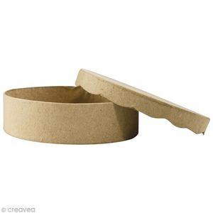 Support à décorer Boîte ronde 11 x 11 cm à décorer Support à décorer