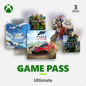 ABONNEMENT Abonnement Xbox Game Pass Ultimate 3 mois (code de