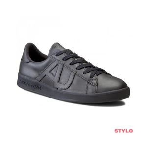 Emporio Armani Runner Sport Cuir Noir Formateurs Black Leather 41 adidas Superstar 80s x0Cpjr