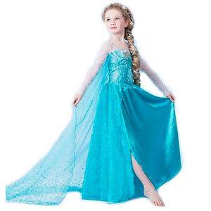 DÉGUISEMENT - PANOPLIE Filles elsa robe Costumes pour enfants neige reine
