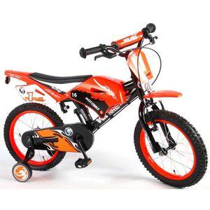 VÉLO ENFANT Vélo Enfants Garçon 16 Pouces Motobike Freins sur