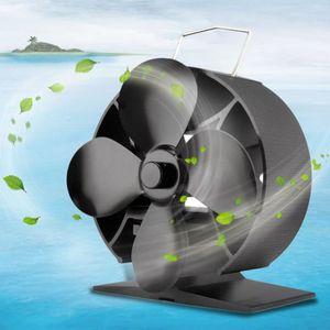 POÊLE À BOIS Ventilateur de poêle Souffleur rond à 4 lames pour