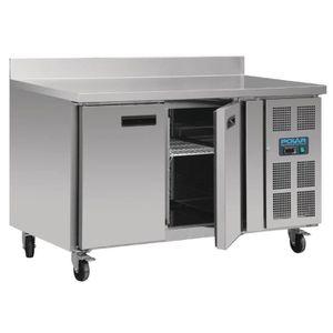 CONGÉLATEUR PORTE Table réfrigérée négative 2 portes avec dosseret 2