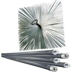 ACCESSOIRES RAMONAGE Lot de ramoneur 7m + 1 hérisson acier 250mm Werkap
