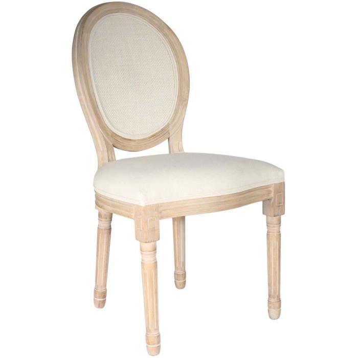 Poufs fauteuils et chaises - Chaise de table - L 48 cm x P 46 cm x H 96 cm - Eleanor - Canage