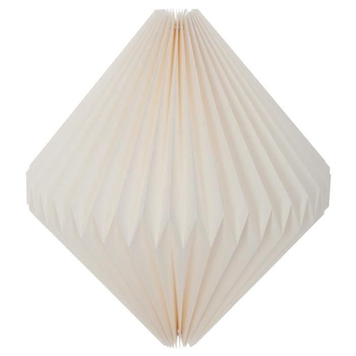 Atmosphera - Lanterne origami losange blanche d40 D, 38 x H, 39 cm Blanc