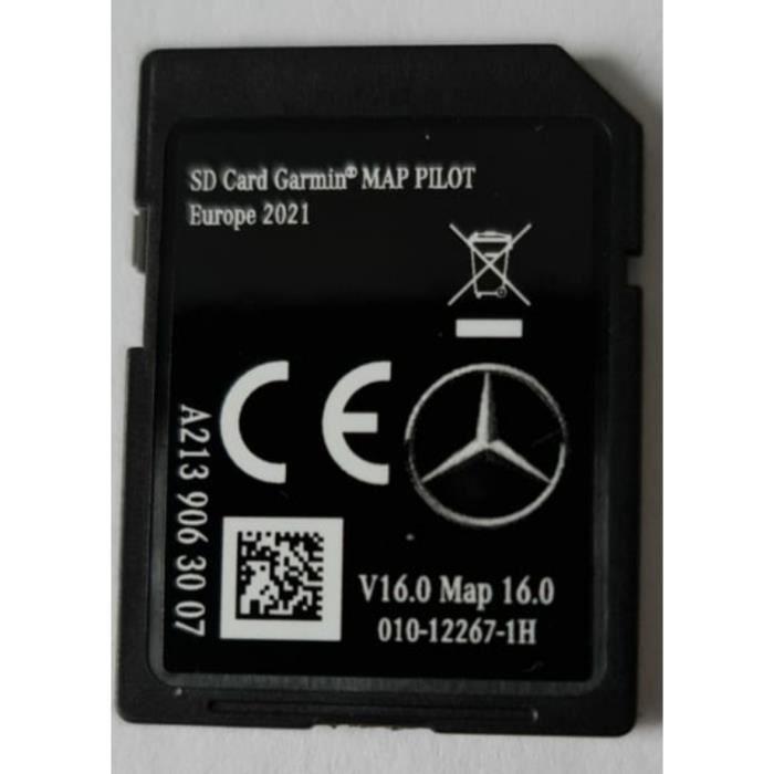 Carte SD GPS MERCEDES GARMIN MAP PILOT Europe 2021 - STAR2 - v16 - A2139063007