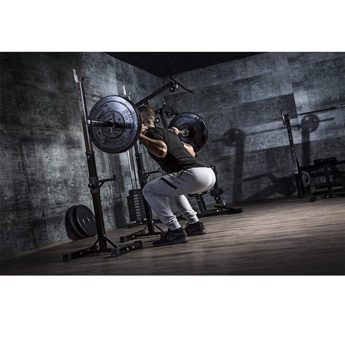 BUL RACK DE RANGEMENT - Rack de Squat Réglable, Appareil de Musculation Supports pour Haltères - Noir(sans Haltères)