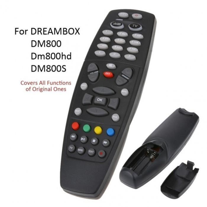 Smart Tv Télécommande De Télévision Remplacement Unité Noir Toutes Les Fonctions Pour Dreambox Dm800 Dm800hd Dm800se Hdtv #49