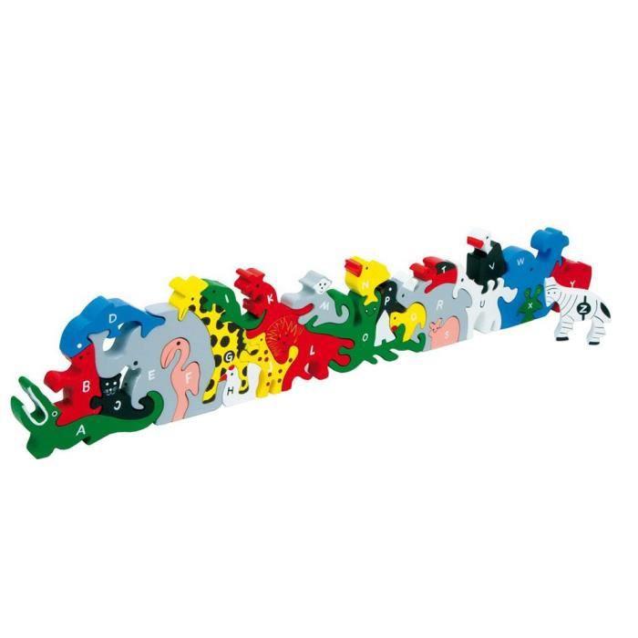 Small foot company - 2841 - Puzzle En Bois - Animaux - Lettres Et Nombres
