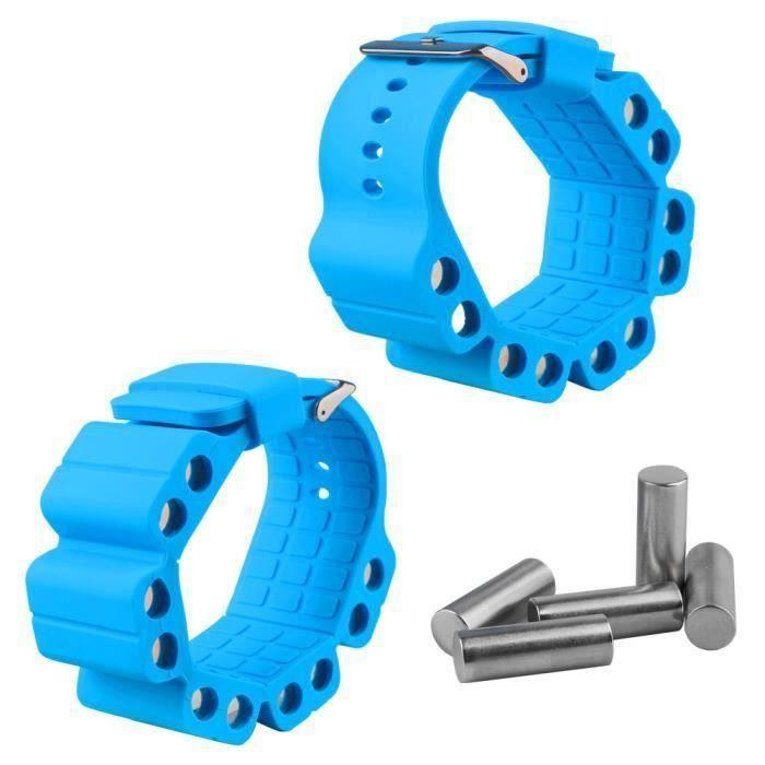 2 pcs bras pondérés poignet poids poignet réglable formation de bras pour Sport Yoga Fitness Aa49726