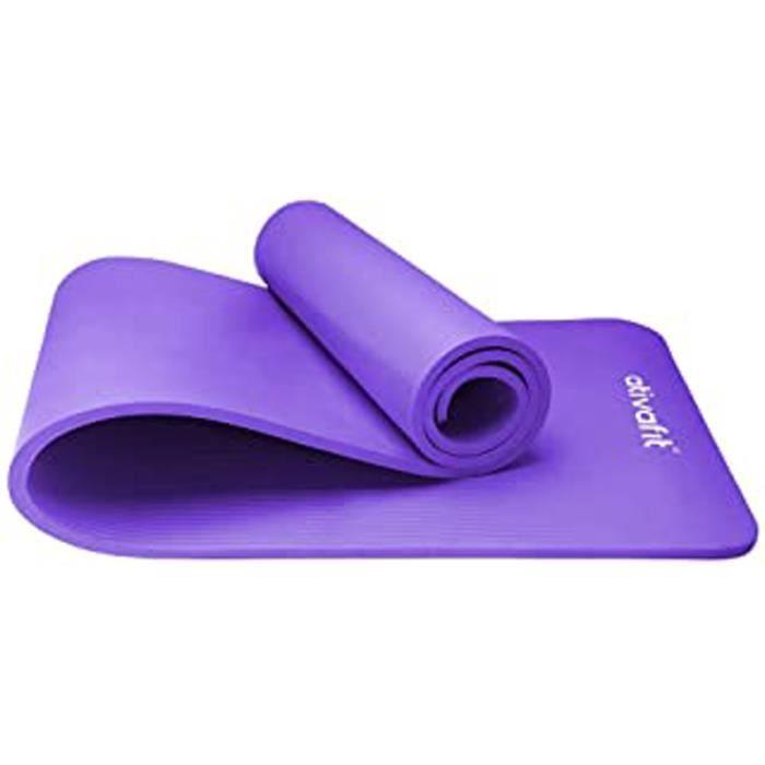 Yoga D'Exercice Tapis De Sol Grande Rembourré Extra Épais 12 Mm Antidérapant Entraînement Pilates Tapis D'Exercice