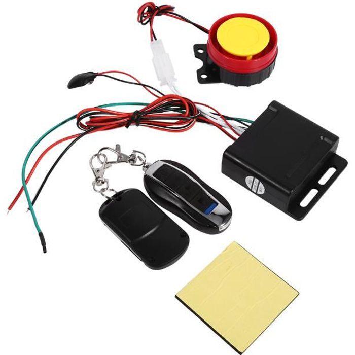 Kit complet Alarme de voiture Système de sécurité pour Universelle Auto Véhicule Multifonctionnel + 2 Télécommande 12V