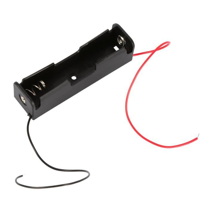 Batterie stockage boîtier plastique pour 1 x 18650 boîte support avec fil conduit