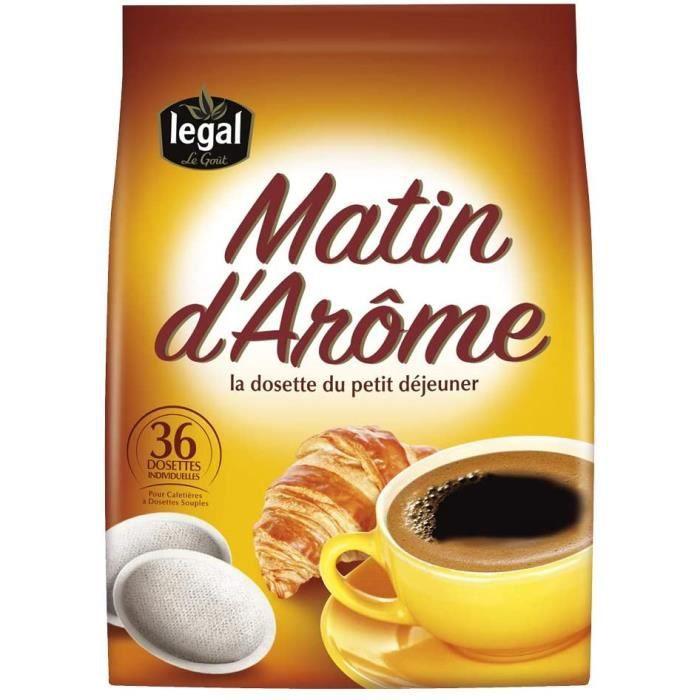 Matin d'Arôme 36 dosettes souples, compatibles avec les machines Senseo