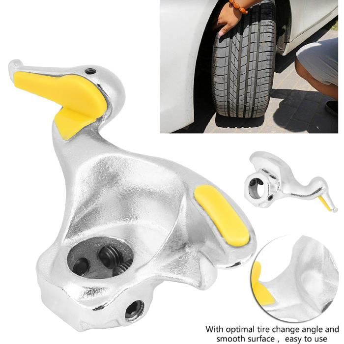 Monte-démonte de roue de changeur de pneu de roue de voiture en acier inoxydable de 30 mm, outil de tête de canard HB046