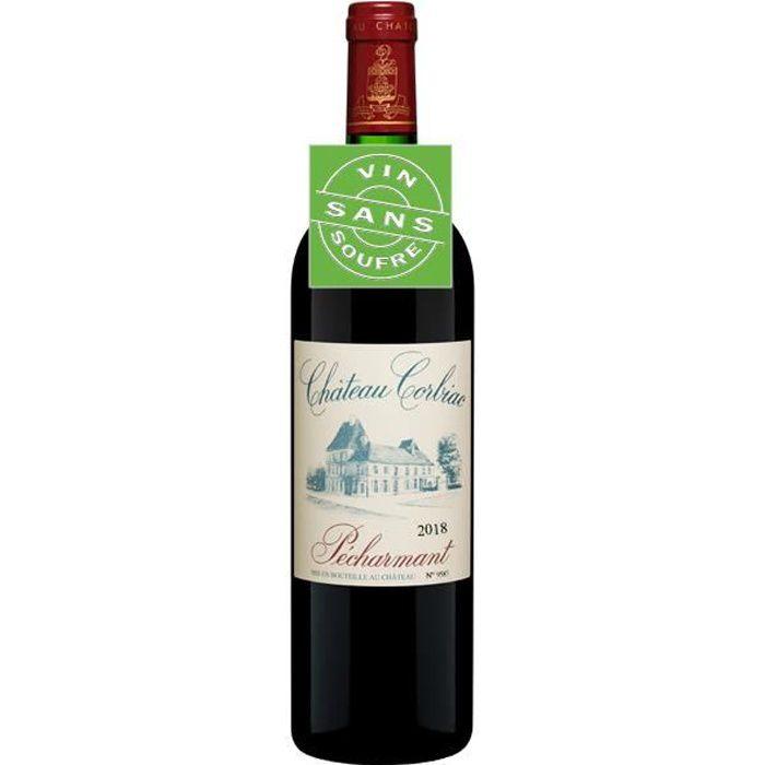 Château Corbiac Pécharmant AOC 2018 vin rouge sans soufre sans sulfites - 1 x 75cl.