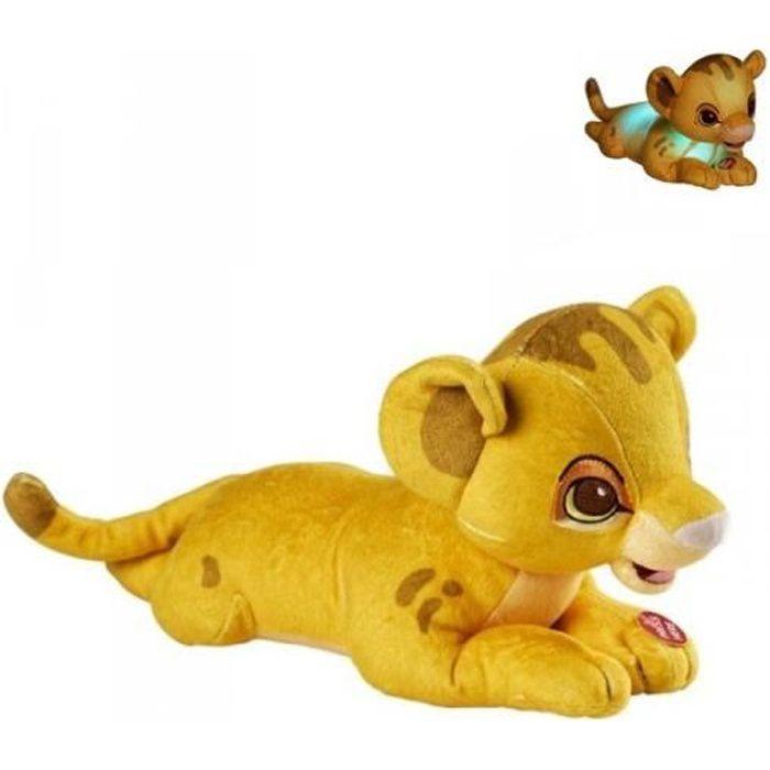 Bébé Simba - peluche lumineuse 28 cm Jaune