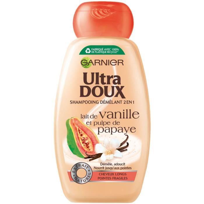 GARNIER Ultra Doux Shampoing - Vanille / pulpe de papaye - 250ml