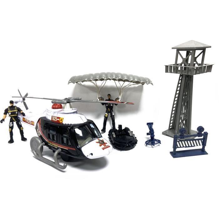 Coffret Police Hélicoptère + Tour de contrôle