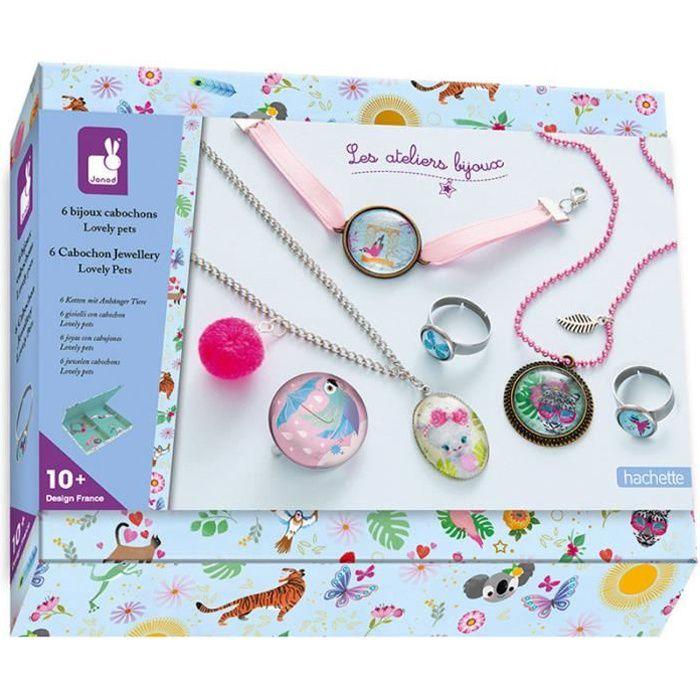 Kit Créatif - bijoux Cabochons Lovely Pets - Loisirs créatifs - Motricité fine - Coffrets d'activités