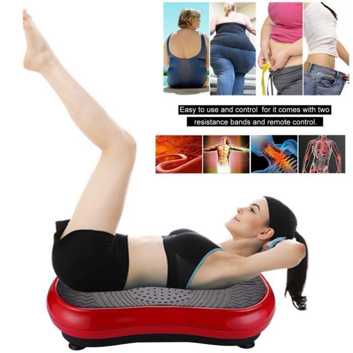 【stock en europe】Fitness Plateforme Vibrante 3D avel'Entraînement Antidérapante - 200W, Max.330 lbs,rouge