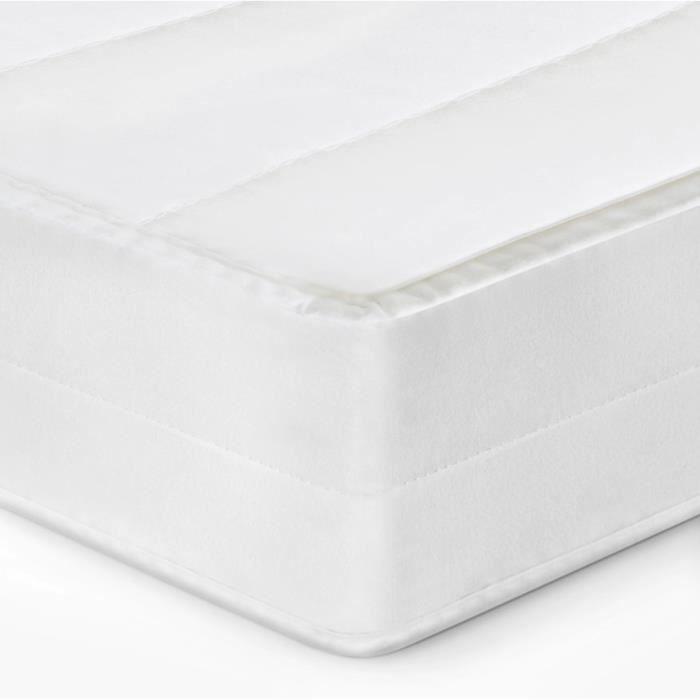 Matelas 120 x 190 matelas sommeil réparateur sans matière nocive confort ferme matelas housse lavable, épaisseur 15 cm