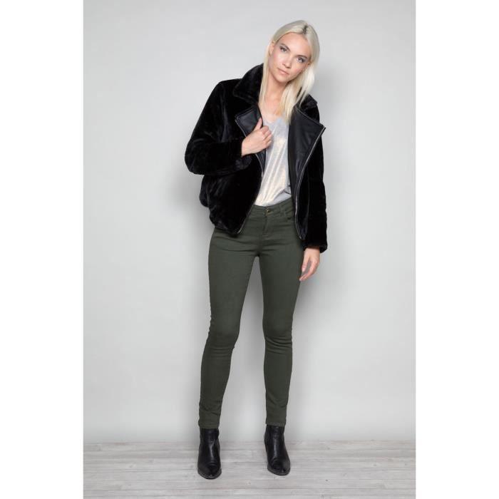 Pantalon slim 5 poches PIME - Couleur - Dark Kaki, Taille - 36