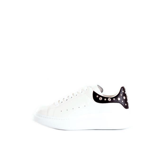 AlexanderMcQueen 553776WHGP chaussures de tennis faible Homme BLANC