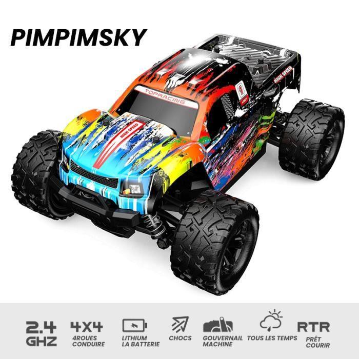 PIMPIMSKY RC Voiture 1/18 Echelle 2.4Gh 40KM/H Haute Vitesse Electrique Buggy+ Télécommandée