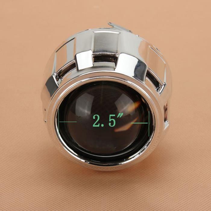 2.5- Bi-xénon HID Projecteur Phare Lentille Angels Eyes H1 H4 H7 Conduite Gauche