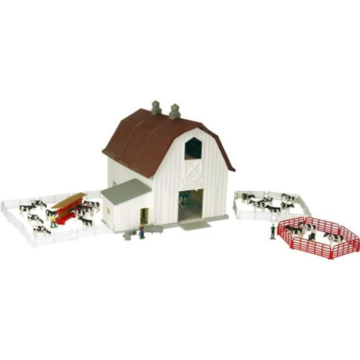 Figurine Miniature TOMY YFWS2 Ertl étable laitière pays agricole playset