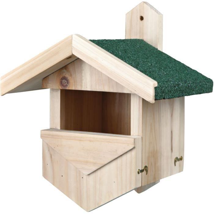 TRIXIE Nichoir nicheurs de semi-cavités, 25 × 31 × 21 cm - Pour oiseau