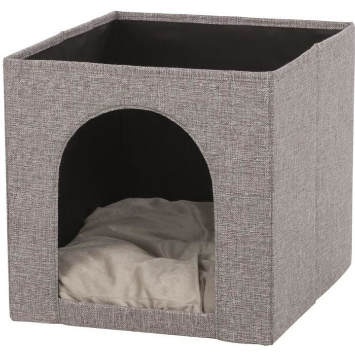 TRIXIE Abri douillet Ella pour étagères - 33x33x37cm - Gris - Pour chat
