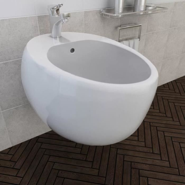 Bidet suspendu en céramique sanitaire blanc-XID