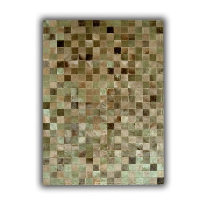 allotapis tapis patchwork beige en peau de vache du maquis 120x180cm beige achat vente. Black Bedroom Furniture Sets. Home Design Ideas