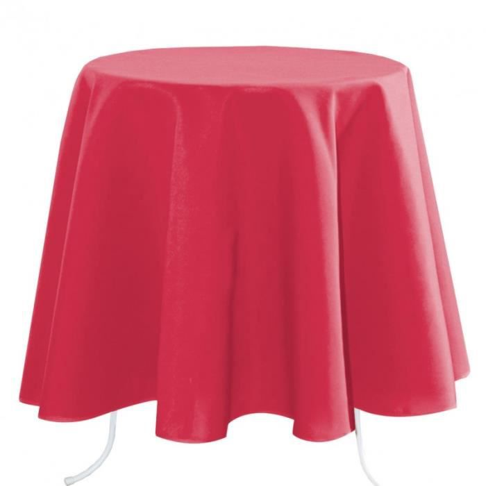 Nappe ronde 160 CM gamme NELSON couleur GRENADINE 100% polyester