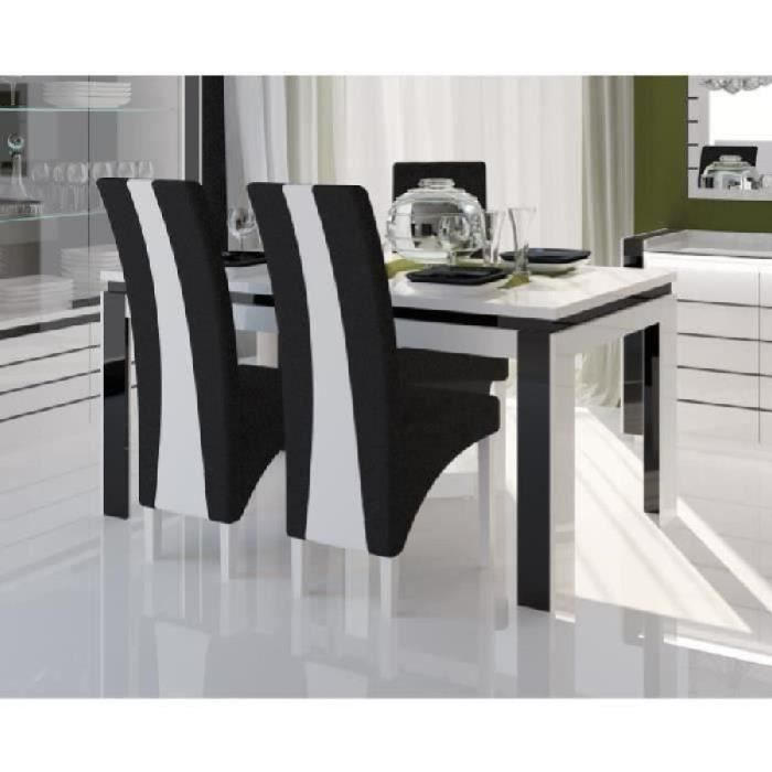 Table 160 Cm 4 Chaises Lina Table Pour Salle A Manger Laquee