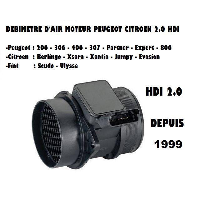 Debitmetre PEUGEOT 206 2.0HDI 90cv