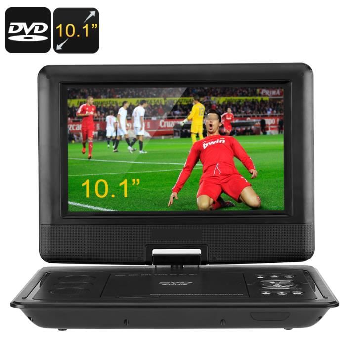 lecteur dvd portable 10 1 pouces cran pivotant 270 degr s 1 lentille hitachi anti choc. Black Bedroom Furniture Sets. Home Design Ideas