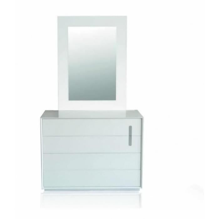 Commode 4 tiroirs bazic finition laqu blanc d cor inox 2 Commode blanc laque