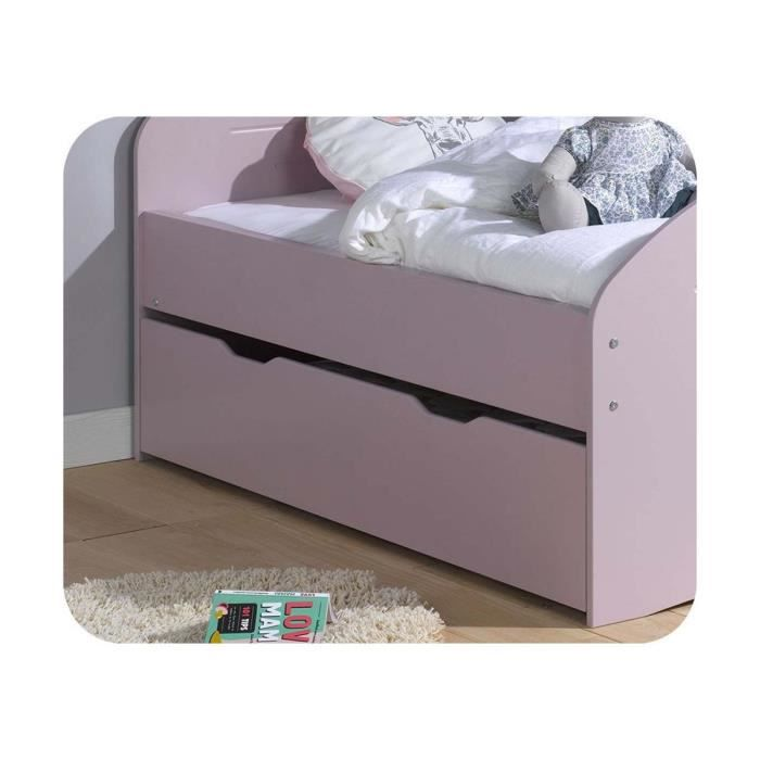 tiroir lit enfant evolutif spoom 90x140 cm vieux rose achat vente tiroir de lit tiroir lit. Black Bedroom Furniture Sets. Home Design Ideas