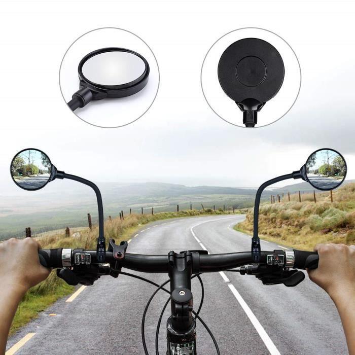 R/étroviseur en Verre Universel R/étroviseur de S/écurit/é Miroir de Bicyclette Arri/ère pour V/élo de Route VTT R/étroviseurs de V/élo