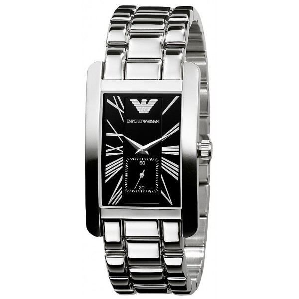 montre armani rectangulaire