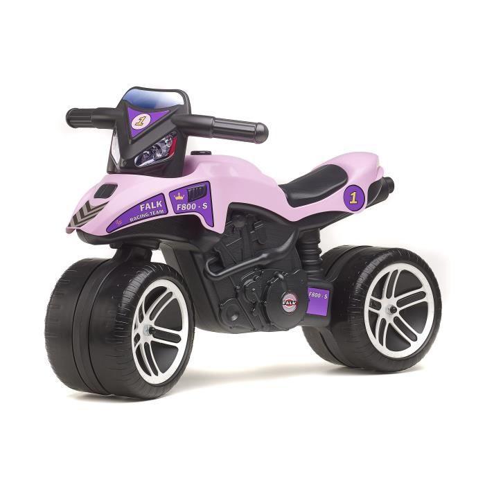 DRAISIENNE FALK Porteur Moto Racing Team - Rose et violet