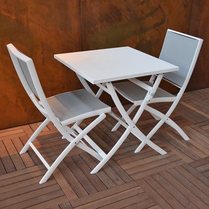 Grace en 70 alu blanc 70 cm carrée Table pliante Achat x RL3A54jq